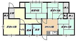 [一戸建] 福岡県北九州市小倉南区若園3丁目 の賃貸【/】の間取り