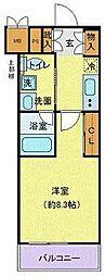 神奈川県横浜市神奈川区青木町の賃貸マンションの間取り