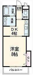 M&Kプラザ藤崎[302号室]の間取り