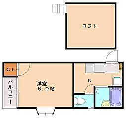 スクエア多賀[2階]の間取り