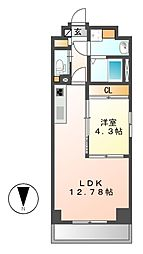 GRANDUKE金山ferio(グランデュークカナヤマフェリオ)[4階]の間取り