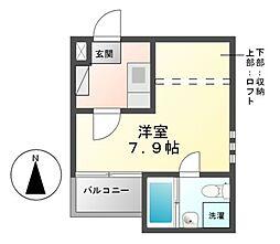 ANDY茶屋ヶ坂[2階]の間取り