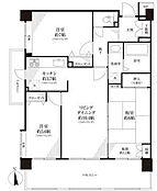 2階部分の南西角部屋、南・西の二面バルコニー。窓がが多く、採光良好、キッチン部分にも開口部有り。