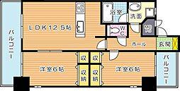 KMマンション熊手[7階]の間取り