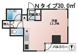 ソレイユ京町堀[4階]の間取り
