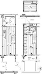 カスタリア麻布十番七面坂[1階]の間取り