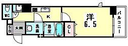アジリア天満橋[7階]の間取り