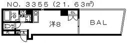プライムタワー阿倍野40[301号室号室]の間取り