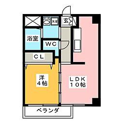 アデランテ[4階]の間取り