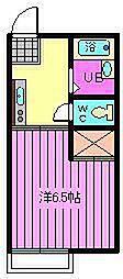 パームハイツ[205号室]の間取り