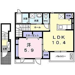 デスパシオ堀上[2階]の間取り