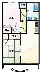 藤和マンションII[2階]の間取り