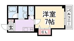 エクセル新伊丹[3階]の間取り