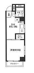 東京都品川区西五反田2丁目の賃貸マンションの間取り
