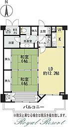 リベライン軽井沢Aウィング 2階2LDKの間取り
