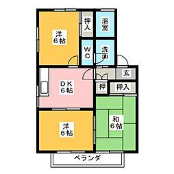 グリーンパークINUKAI[2階]の間取り