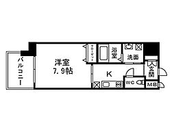 福岡県北九州市八幡西区熊手3丁目の賃貸マンションの間取り