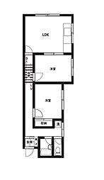 鳶舞館[1階]の間取り