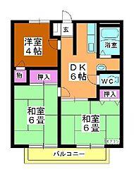 メゾン岸田B[102号室]の間取り