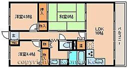 ウィンズ2番館[305号室]の間取り