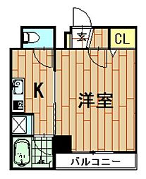 神奈川県川崎市中原区木月4丁目の賃貸マンションの間取り