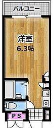 ロマネスク姫島[105号室]の間取り