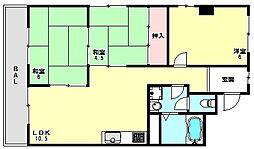 兵庫県神戸市垂水区多聞台2丁目の賃貸マンションの間取り