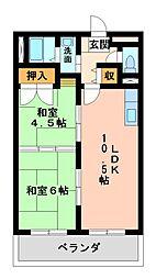 シャルムビラ宮松[5階]の間取り