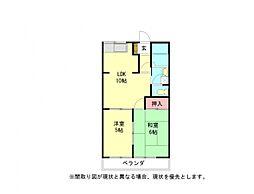 愛知県小牧市間々本町の賃貸アパートの間取り