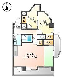 エクセル21[6階]の間取り