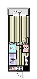 アンフィニ麦野[2階]の間取り