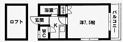 ウェールハウス[201号室]の間取り