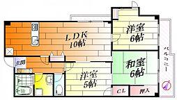 アンハウス[3階]の間取り