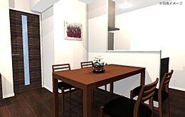 家具付きのリノベーション物件/完成イメージ