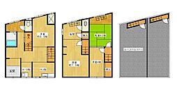 [一戸建] 大阪府大阪市港区市岡2丁目 の賃貸【/】の間取り
