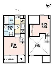 プレンフルIII[2階]の間取り