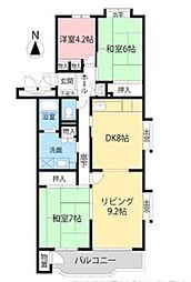 平塚若宮ハイツ 12号棟 4階