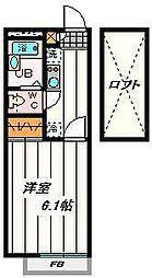 埼玉県富士見市関沢3丁目の賃貸アパートの間取り