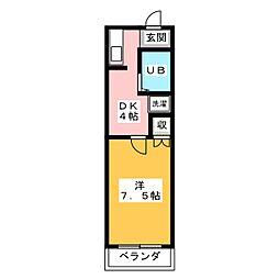 ベストハイツ三ツ井II[2階]の間取り