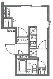 COCOCUBE井草 2階ワンルームの間取り