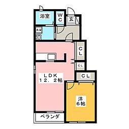 アンデスII[1階]の間取り