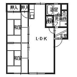 JAハイツ三快[1階]の間取り
