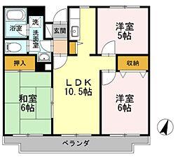 湘南藤沢ユーマンション[306号室]の間取り