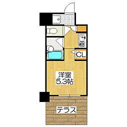 デ・リード金閣寺道[107号室]の間取り