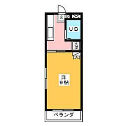 カーサクレイ[1階]の間取り