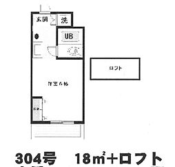 キューブ東武庫之荘I[304号室]の間取り