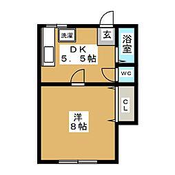 ラフォーレミケ[2階]の間取り