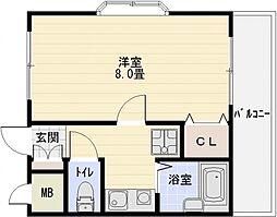 トレイズII[1階]の間取り