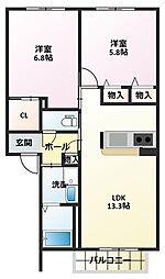 シャーメゾンイケダ[2階]の間取り