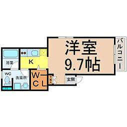 フラット矢田南[2階]の間取り